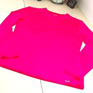 🔴Champion Hot Pink Long Sleeve Athletic Top